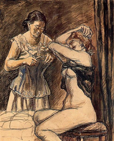 Two Women, 1933 - Jose Gutierrez Solana