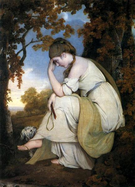 Maria, from Sterne, a Companion to the Picture of Edwin, 1781 - Joseph Wright