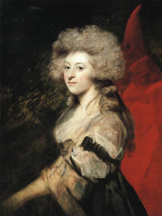 Portrait of Maria Anne Fitzherbert - Joshua Reynolds