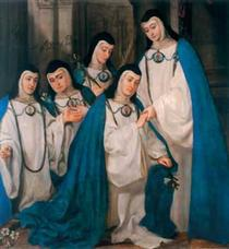 Catholic Nuns Wearing Their Rarely-Seen Away Uniforms - Juan Carreno de Miranda