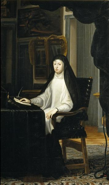 Portrait of Queen Mariana de Austria as a Widow, 1669 - Juan Carreno de Miranda