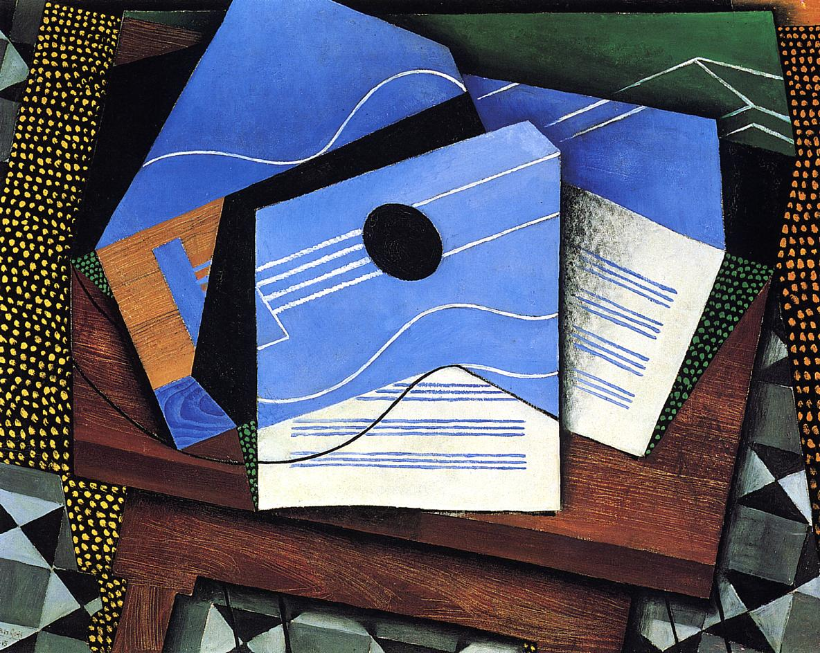 guitar on a table 1915 juan gris. Black Bedroom Furniture Sets. Home Design Ideas