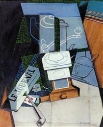 Newspaper with Coffee Mill - Juan Gris