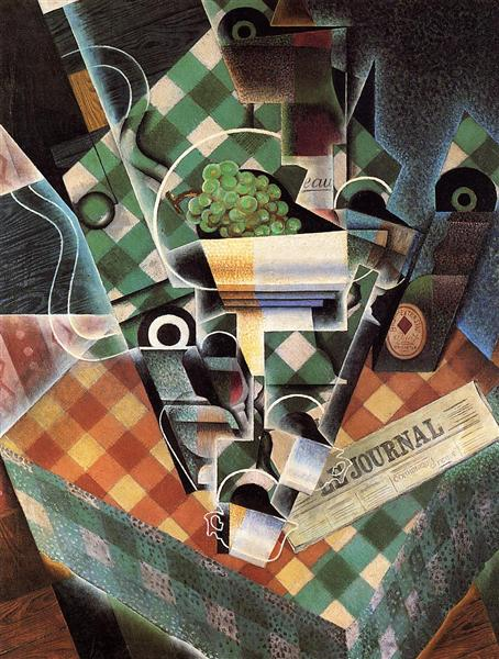 Still Life with Checked Tablecloth - Juan Gris