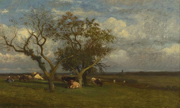 Landscape with Cows - Jules Dupre