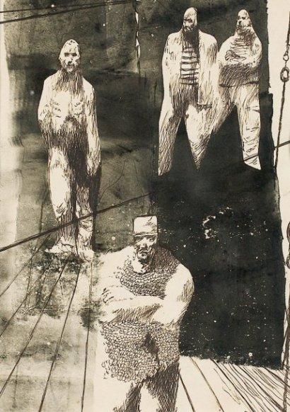 Quatre marins, 1960 - Jules Perahim