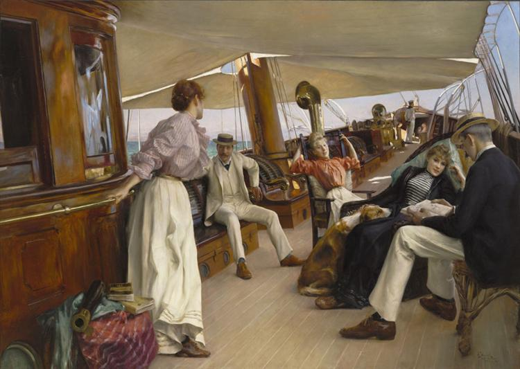"On the Yacht ""Namouna"", Venice, 1890 - Julius LeBlanc Stewart"