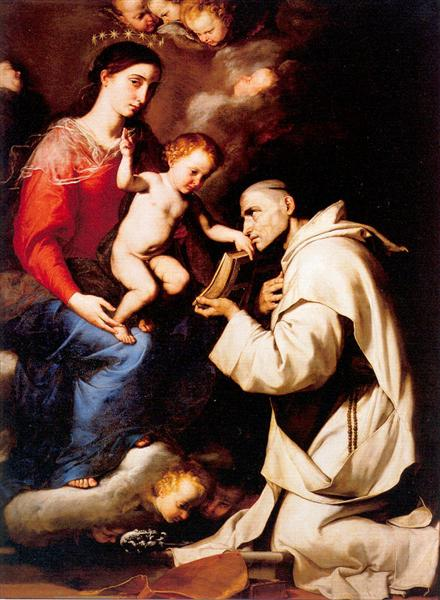 Madonna with the Christ Child and Saint Bruno, 1624 - Jusepe de Ribera