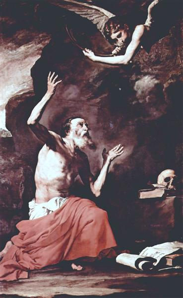 St. Jerome and the Angel of Judgement, 1626 - Jusepe de Ribera