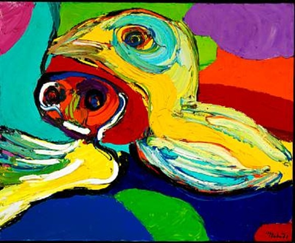 Two Young Girls, 1971 - Karel Appel