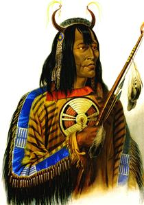 Noapeh Assiniboin Indian - Karl Bodmer