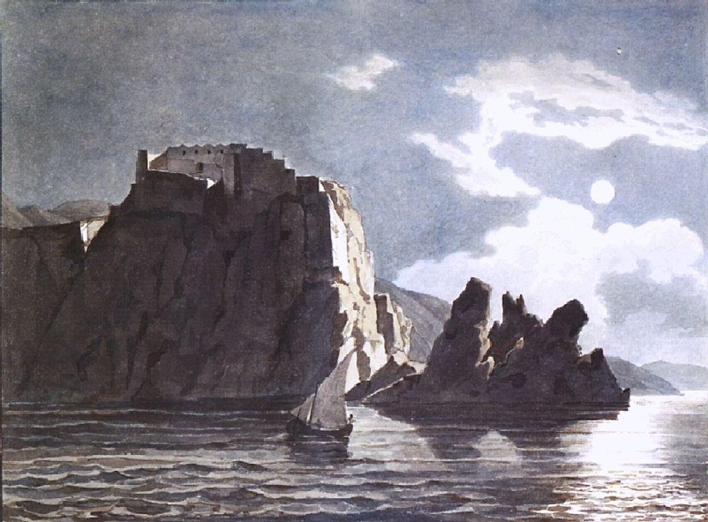 Cliffs and Moon at Night, 1824