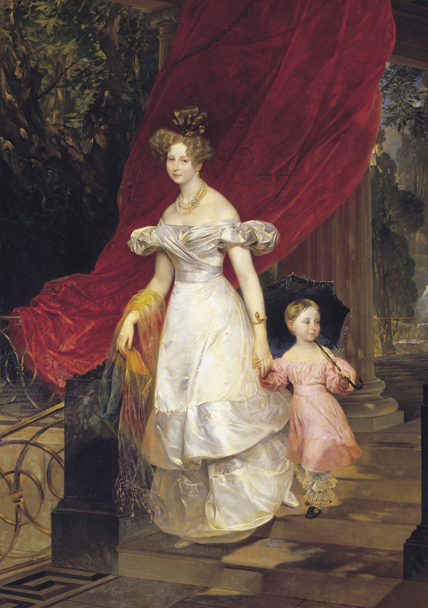 Portrait of Grand Duchess Elena Pavlovna and Her Daughter Maria, 1830
