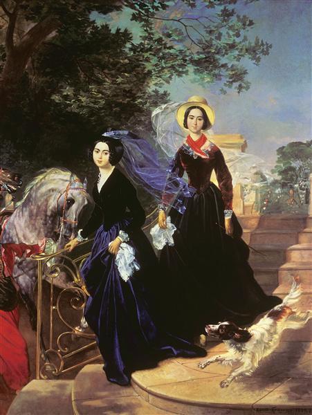 Портрет сестёр Шишмарёвых, 1839 - Карл Брюллов