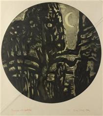 Nocturne With Apple Tree - Karl Schrag