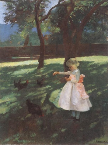 Feeding the Chickens, 1895 - Károly Ferenczy