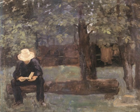 Man Sitting on a Log, 1895 - Karoly Ferenczy