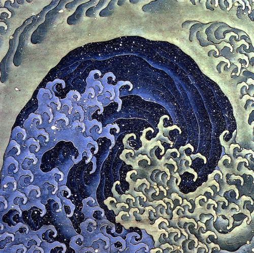 Femenine wave - Katsushika Hokusai
