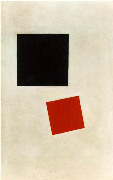 Black Square and Red Square, 1915 - Kazimir Malevich