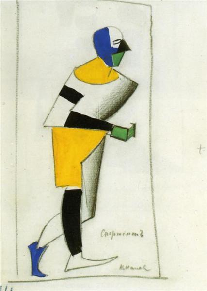Sportsman, 1913 - Kazimir Malevich