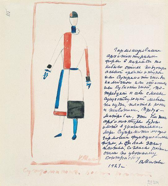 Suprematic dress, 1923 - Kazimir Malevich