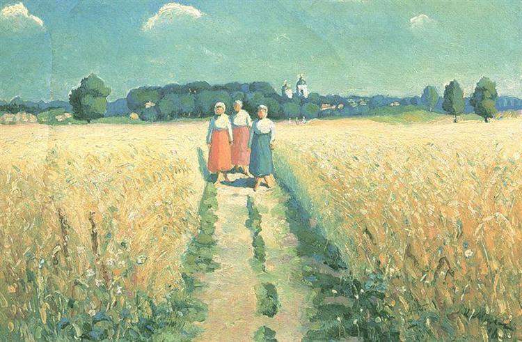 Three women on the road - Kazimir Malevich