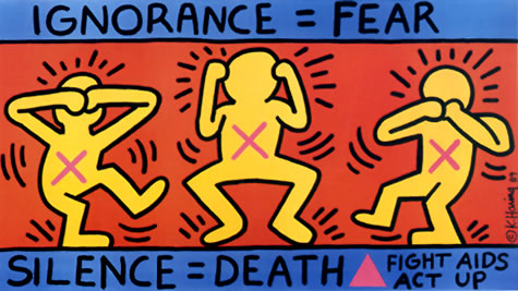 Ignorance = Fear, 1989 - Keith Haring
