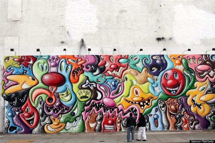 Mural on Houston and Bowery - Kenny Scharf