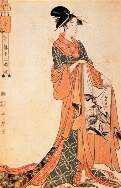 The Hour of the Horse - Kitagawa Utamaro