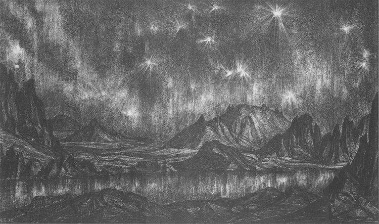 Stars, 1922 - Konstantin Bogaevsky