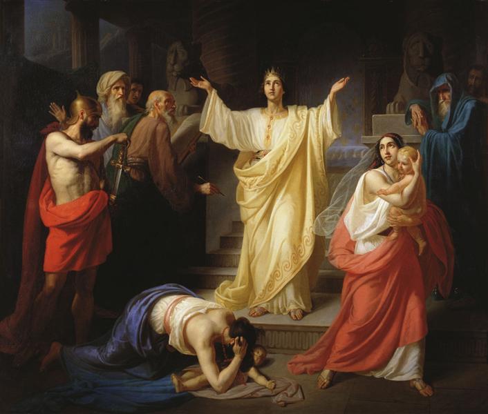 Judgment of Solomon, 1854 - Konstantin Dmitriyevich Flavitsky
