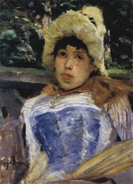 Портрет хористки, 1883 - Константин Коровин