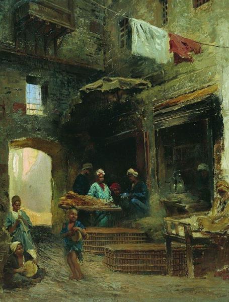 Cairo court, 1873 - Konstantin Makovsky