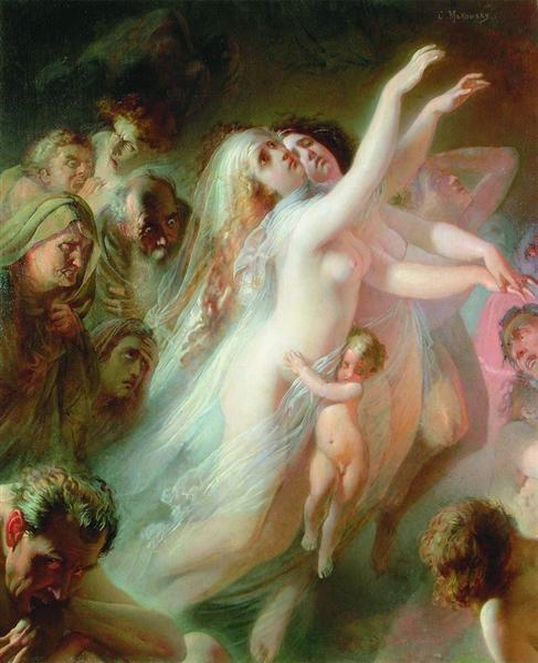 Charon carries dead souls across the River Styx, 1861 - Konstantin Makovsky
