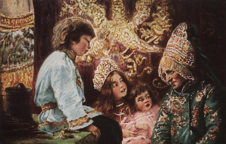 Fairy Tails, c.1890 - Konstantin Makovsky
