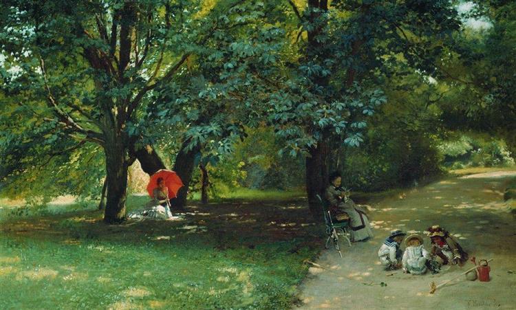In the Park, c.1881 - Konstantin Makovsky