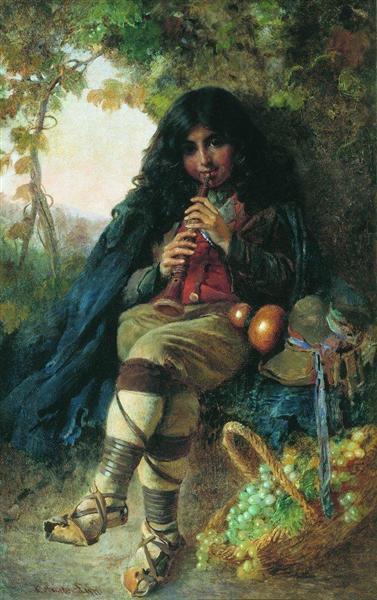 Italian Boy, 1877 - Konstantin Makovsky