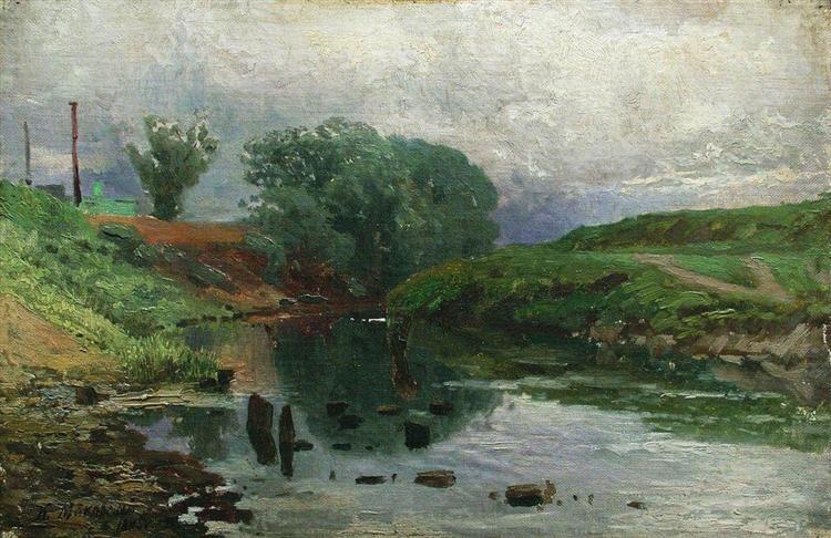 Landscape, 1875 - Konstantin Makovsky