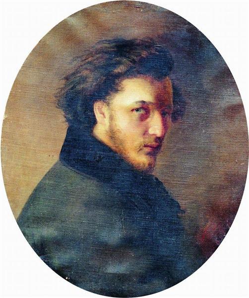 Portrait of Artist K.Bornikov, 1868 - Konstantin Makovsky