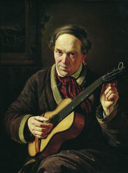 Portrait of E.Makovsky, Artist's Father, 1856 - Konstantin Makovsky