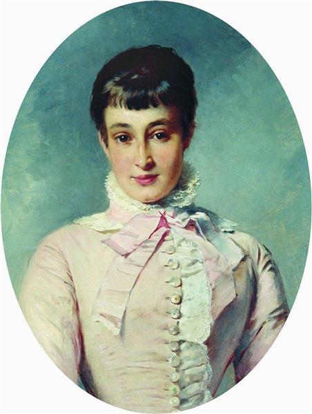 Portrait of M.Butina - Konstantín Makovski