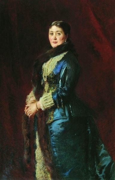 Portrait of Princess M.Orlova-Davydova, c.1880 - Konstantin Makovsky
