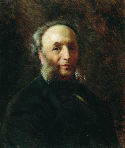 Portrait of the Artist Ivan Aivazovsky, 1887 - Konstantin Jegorowitsch Makowski