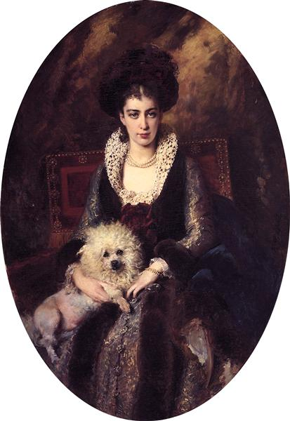 Portrait of the Artist's Wife - Konstantin Makovsky
