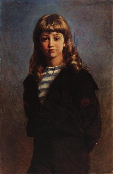 Serezha (Portrait of Son in Sailor Suit), 1887 - Konstantin Makovsky