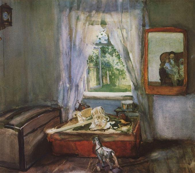 In the Nursery, 1898 - Constantin Somov