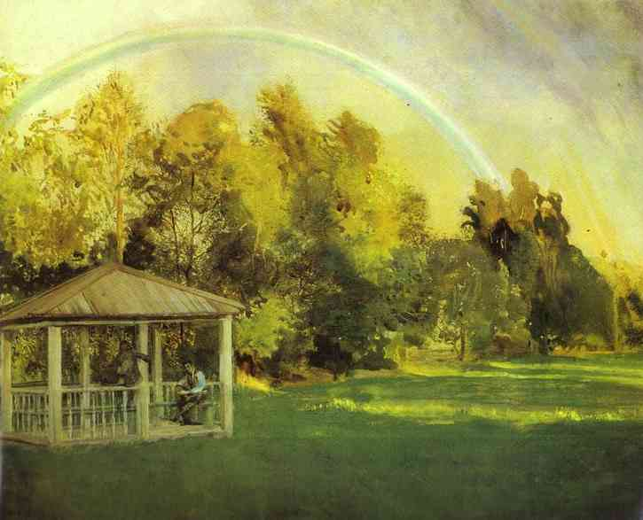 Landscape with Pavillion, 1897 - Konstantin Somov