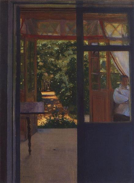 On the Balcony, 1901 - Konstantin Somov
