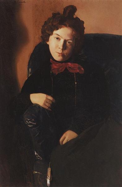 Portrait of Anna Ostroumova-Lebedeva, 1901 - Konstantin Somov