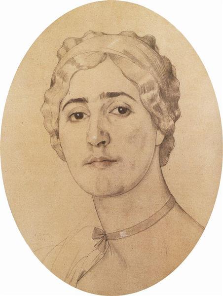 Portrait of D. Karysheva, 1914 - Konstantin Somov
